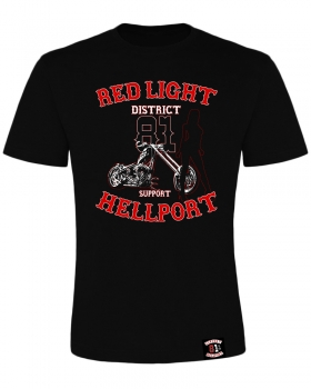 T-Shirt: RED LIGHT DISTRICT - Schwarz