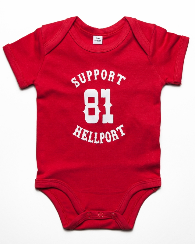 Baby Bodysuit : SUPPORT 81 - Rot